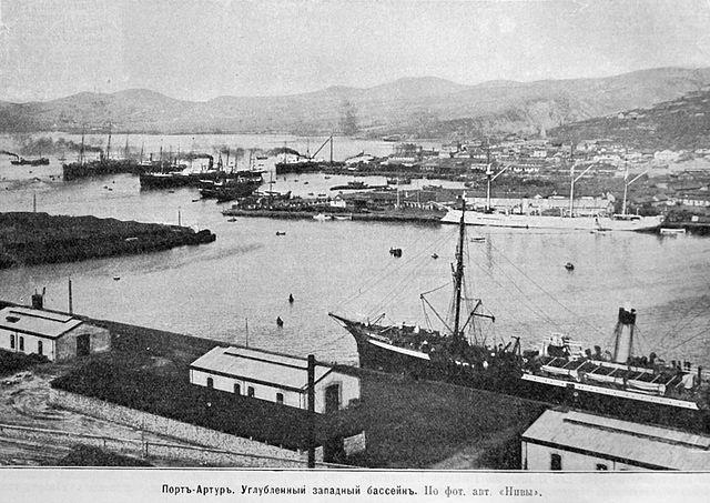 Port Arthur - Hafen, um 1904