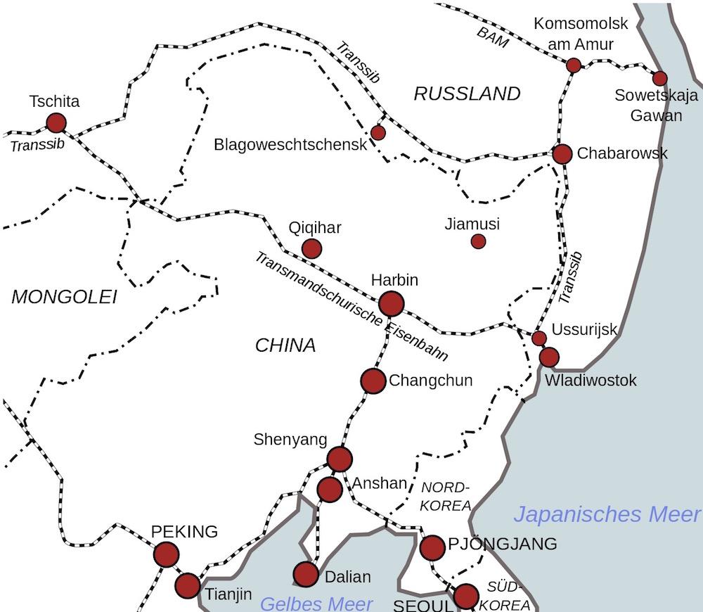 Strecke Transmandschurische Eisenbahn (auch: Chinesische Osteisenbahn)