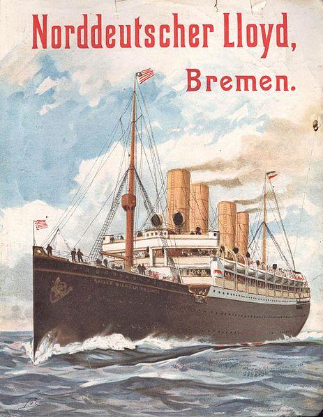 Norddeutscher Lloyd (Amerika-Linie), Reklame 1903