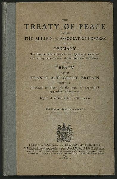28.06.1919 – Versailler Vertrag unterzeichnet