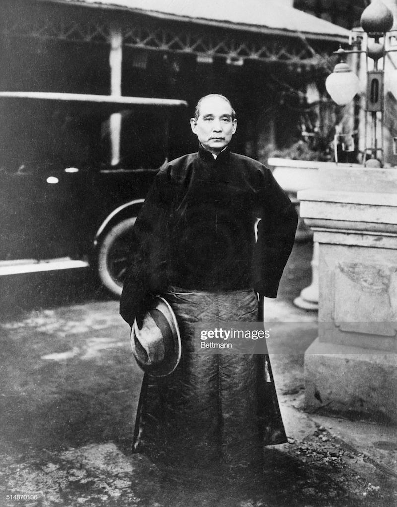 Porträt von Dr. Sun Yat-sen (1866-1924), Winter 1925, Tientsin (Quelle: gettyimages)
